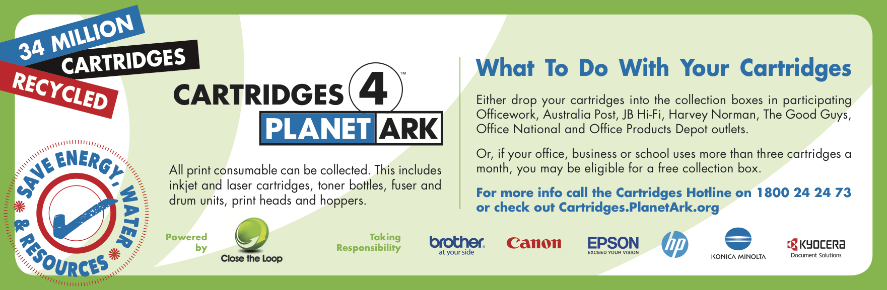 Planet Ark recycled cartridges campaign