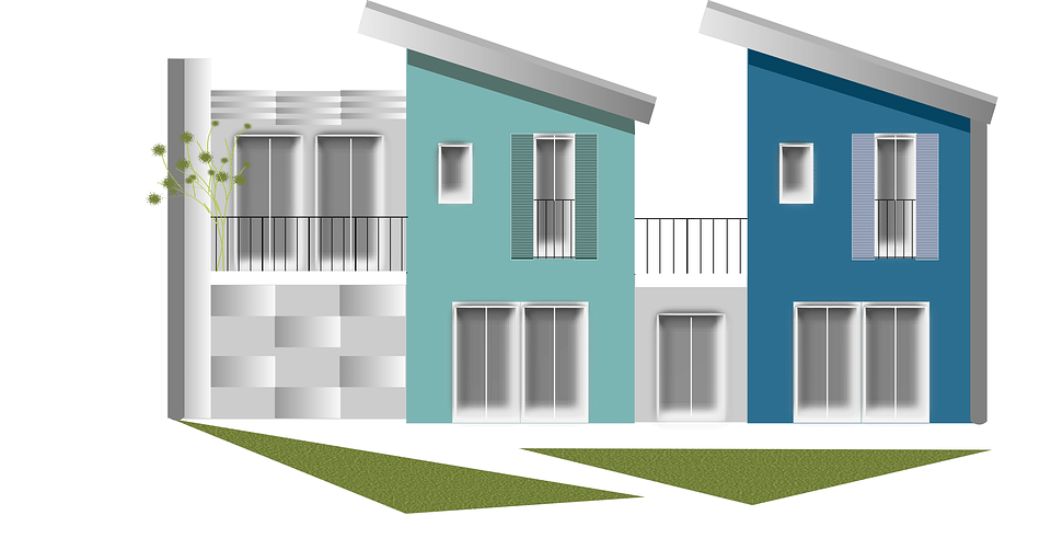 Townhouses drawing