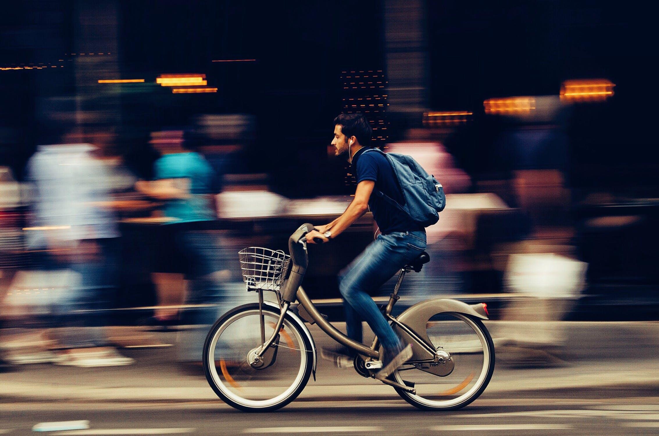 Fast Guy on Bike