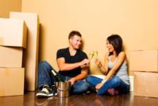 couple celebrating new home